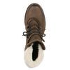 Dámska kožená zimná obuv manas, hnedá, 596-4602 - 19