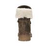 Dámska kožená zimná obuv manas, hnedá, 596-4602 - 17