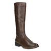 Kožené čižmy šírky H bata, hnedá, 596-4611 - 13