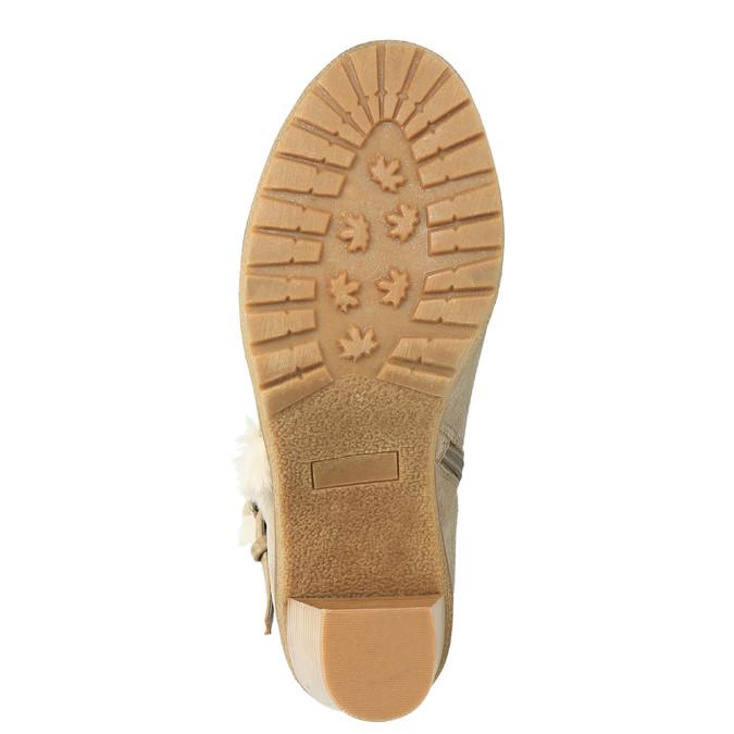 Členková obuv s kožúškom bata, šedá, 793-2600 - 26