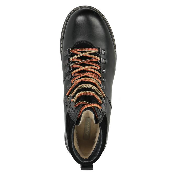 Kožená obuv s originálnym šnurovaním bata, čierna, 894-6180 - 19