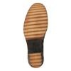 Dámske kožené čižmy na výraznej podrážke manas, hnedá, 696-7600 - 26