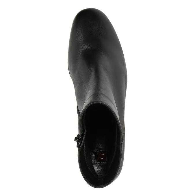Kožená členková obuv hogl, čierna, 794-6003 - 19