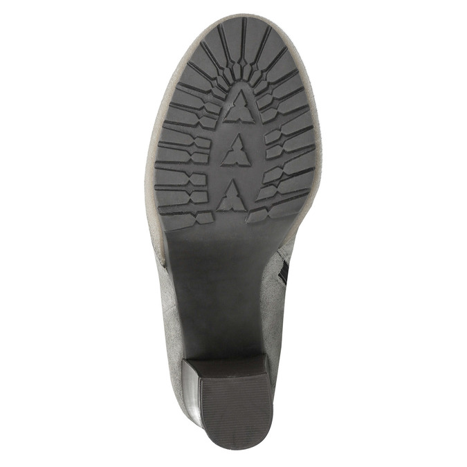 Kožená členková obuv s pravým kožuškom manas, šedá, 793-2603 - 26