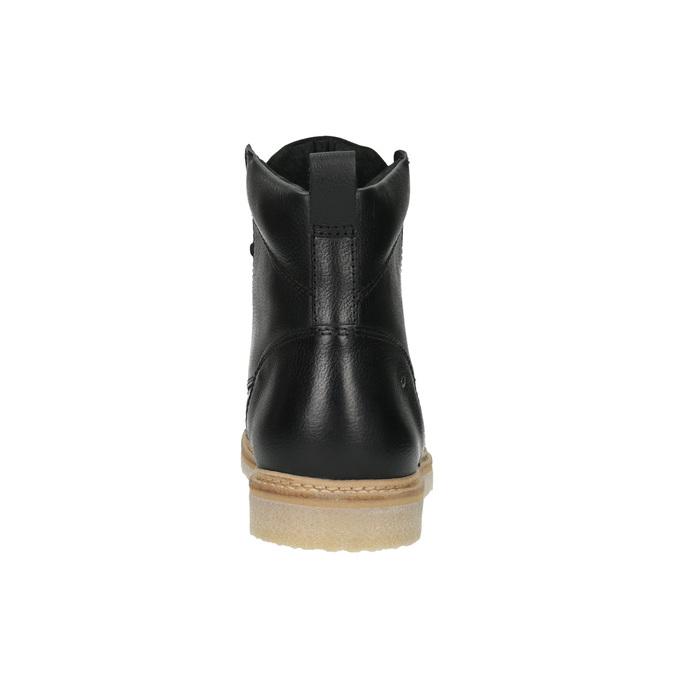 Pánska kožená členková obuv bata, čierna, 896-6652 - 17