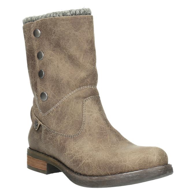 Dámské čižmy s cvokmi bata, hnedá, 591-2600 - 13