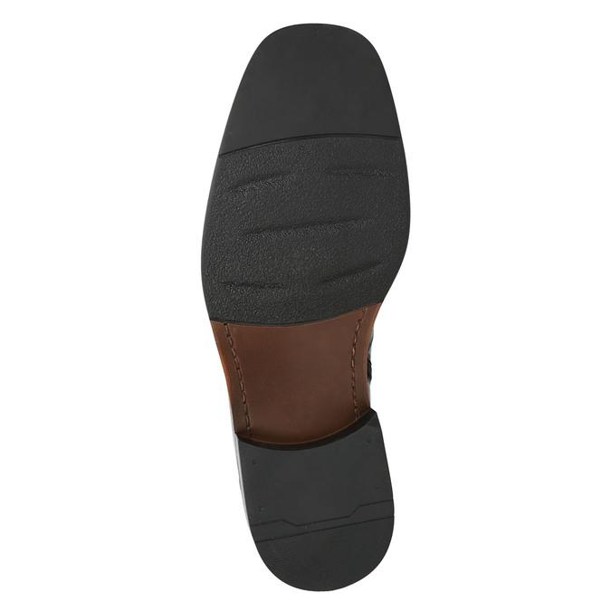Kožená členková obuv so zateplením bata, čierna, 894-6640 - 19