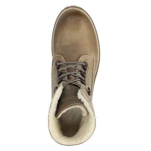 Kožená zimná obuv s kožúškom weinbrenner, šedá, 594-2491 - 19