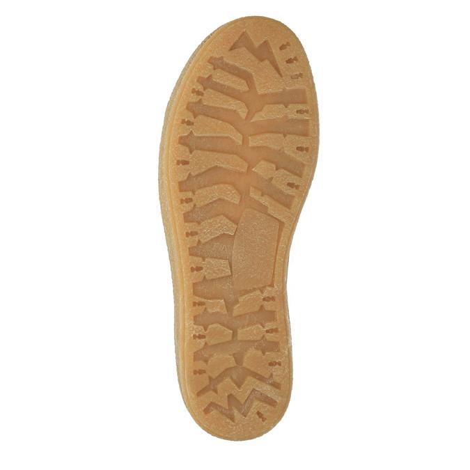 Kožené členkové tenisky s kožúškom weinbrenner, hnedá, 596-8627 - 26