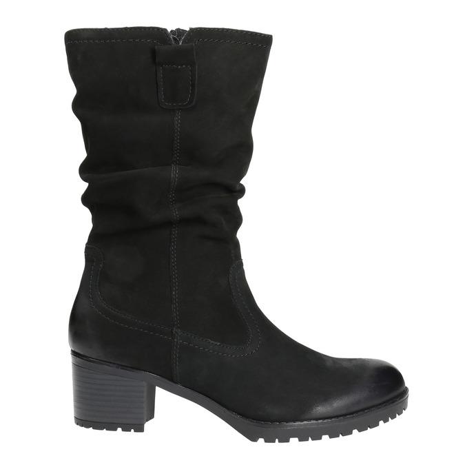 Kožená členková obuv bata, čierna, 696-6101 - 15
