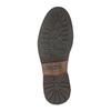 Kožená členková obuv s ozdobným zipsom bata, hnedá, 896-3654 - 26