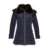Dámska zimná bunda s kožúškom bata, modrá, 979-9649 - 13