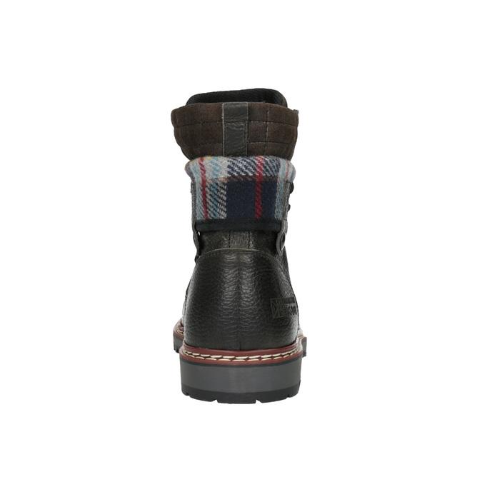 Pánska členková zimná obuv bata, šedá, 896-2650 - 17