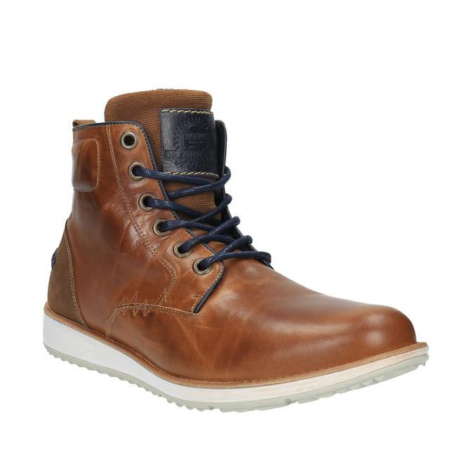 Kožená členková obuv na ležérnej podrážke bata, hnedá, 894-3660 - 13