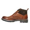 Kožená členková obuv s Brogue zdobením bata, hnedá, 896-3646 - 26