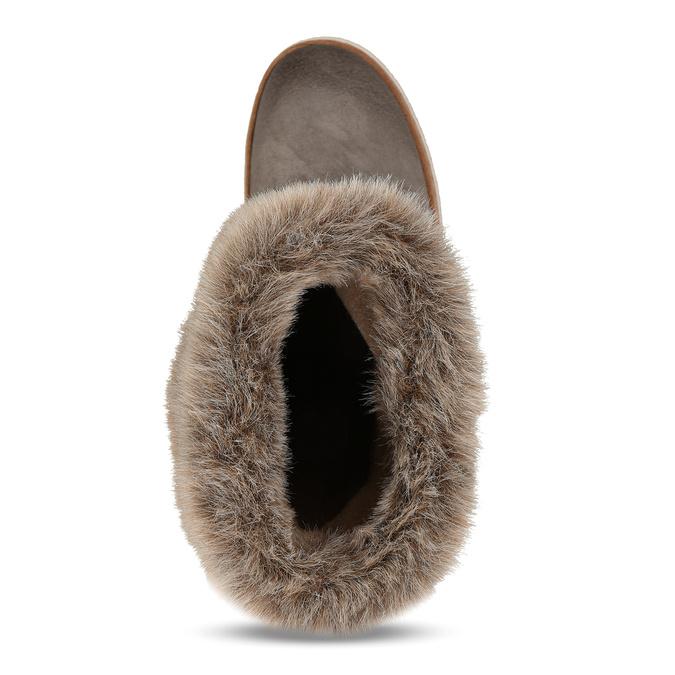 Kožená zimná obuv s kožúškom weinbrenner, šedá, 596-2633 - 17