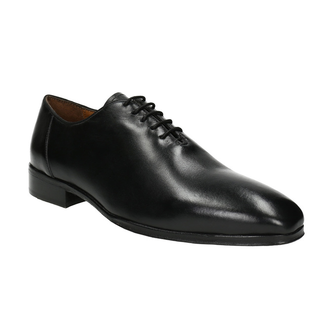 Čierne celokožené Oxfordky bata, čierna, 824-6788 - 13