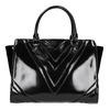 Lakovaná kabelka s prešitím bata, čierna, 961-6708 - 26