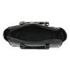 Lakovaná kabelka s prešitím bata, čierna, 961-6708 - 15
