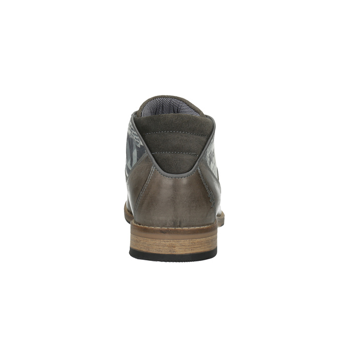 Ležérne pánske poltopánky bata, šedá, 826-2735 - 17