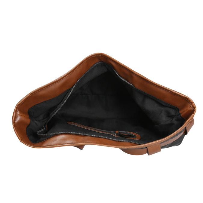 Kabelka s odnímateľným popruhom bata, čierna, 961-6206 - 15