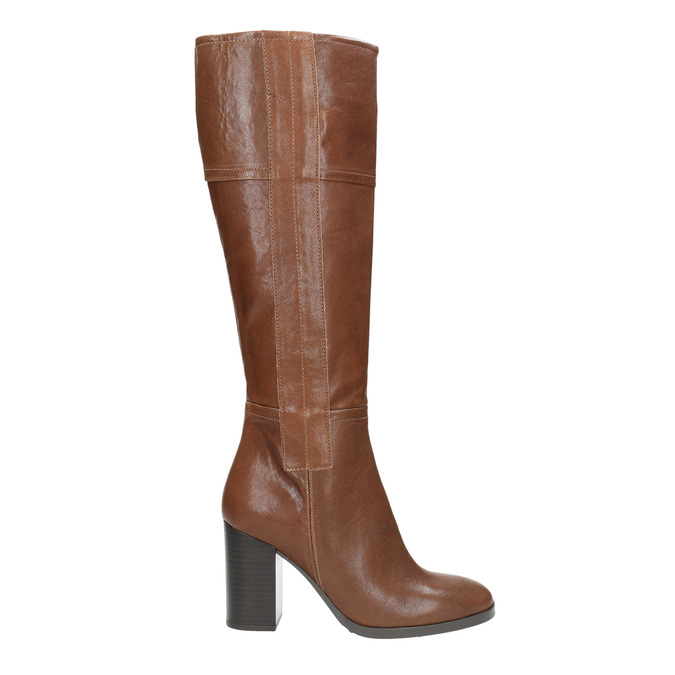 Dámske kožené čižmy bata, hnedá, 796-4637 - 15