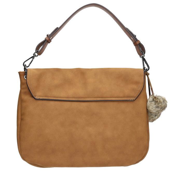 Dámska kabelka s bambuľkami bata, hnedá, 961-3244 - 19