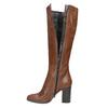 Dámske kožené čižmy bata, hnedá, 796-4637 - 19
