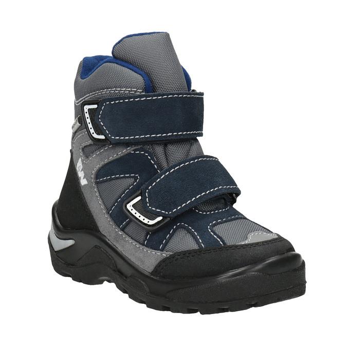 Detská zimná obuv na suchý zips weinbrenner, šedá, 299-2612 - 13