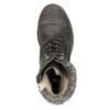Dámska šnurovacia zimná obuv bata, šedá, 591-6606 - 19