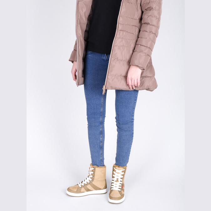 Dámska členková obuv s kožúškom bata, hnedá, 599-4606 - 18
