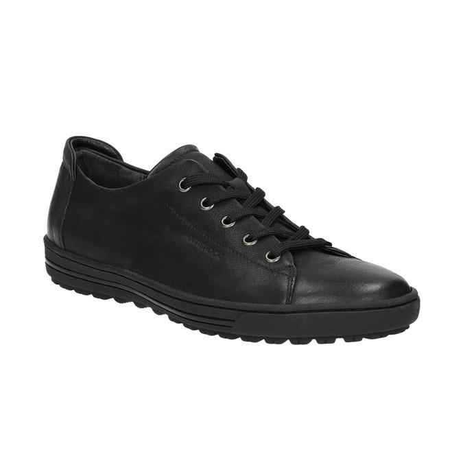 Dámske kožené tenisky bata, čierna, 524-6349 - 13