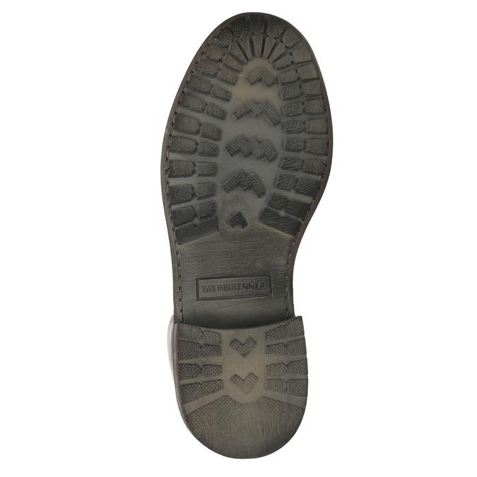 Dámska kožená členková obuv weinbrenner, hnedá, 596-4632 - 26
