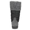Dámske snehule so svetrovým lemom weinbrenner, šedá, 599-6500 - 17