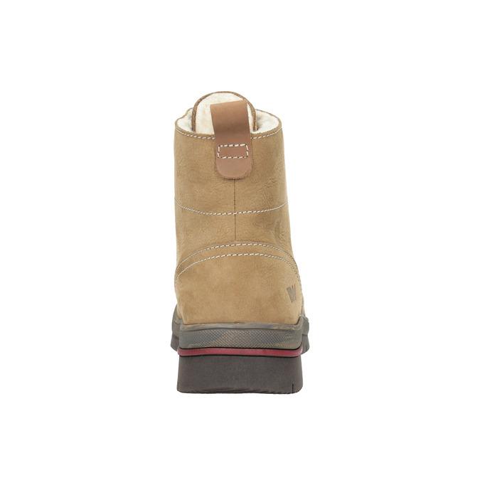 Dámska zimná obuv kožená weinbrenner, hnedá, 596-4636 - 17