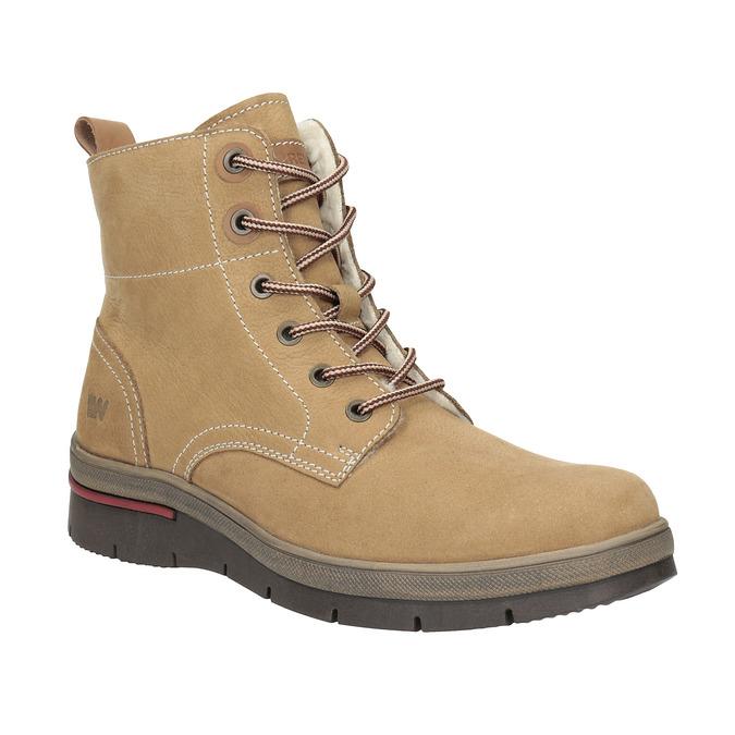 Dámska zimná obuv kožená weinbrenner, hnedá, 596-4636 - 13