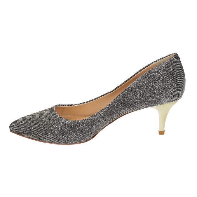 Lodičky na nízkom podpätku bata, šedá, 629-8631 - 26