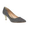 Lodičky na nízkom podpätku bata, šedá, 629-8631 - 13