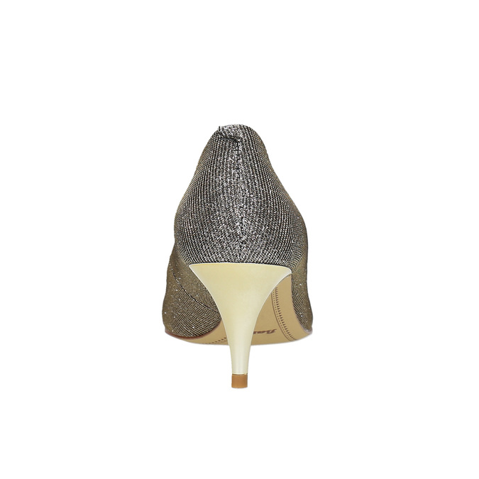 Lodičky na nízkom podpätku bata, strieborná, 629-8631 - 17