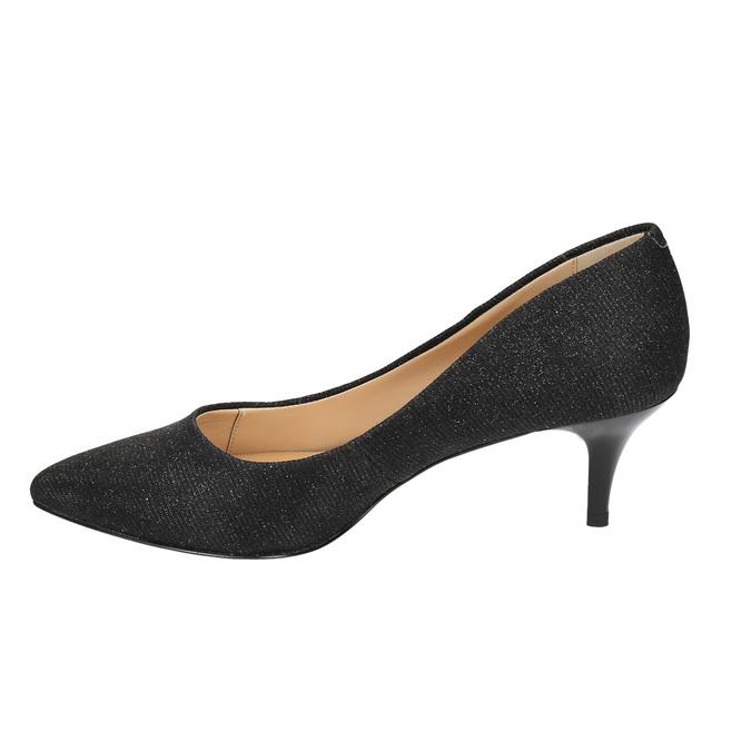 Elegantné lodičky na nízkom podpätku bata, čierna, 629-6631 - 26