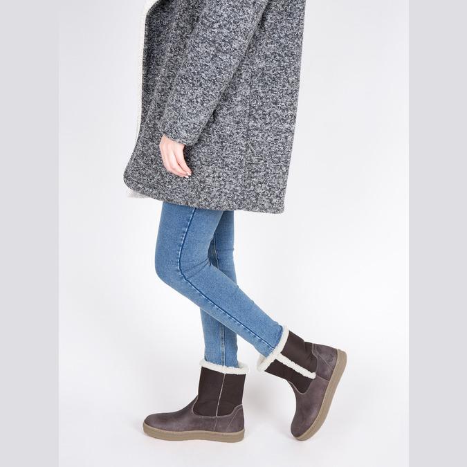 Kožená zimná obuv s kožúškom weinbrenner, hnedá, 596-8628 - 18
