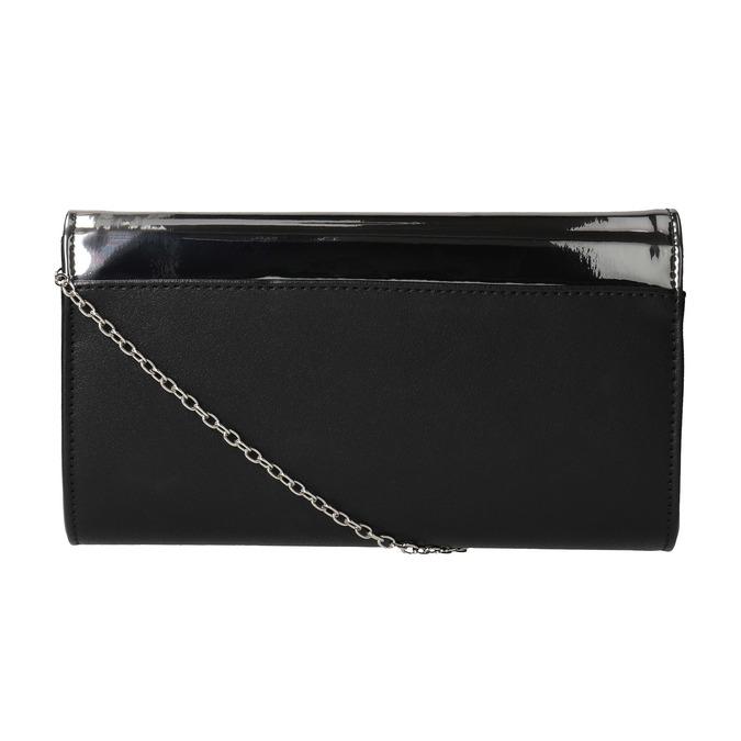 Listová kabelka s lakovanou klopou bata, šedá, 961-2673 - 19