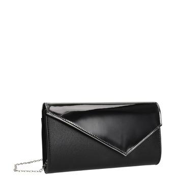 Listová kabelka s lakovanou klopou bata, čierna, 961-2673 - 13