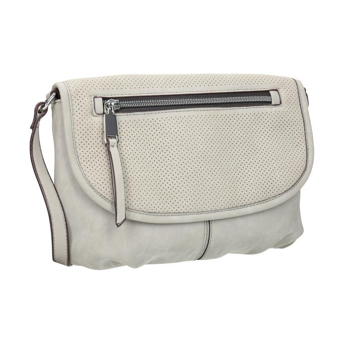 Crossbody kabelka s perforovanou klopou bata, šedá, 961-2709 - 13