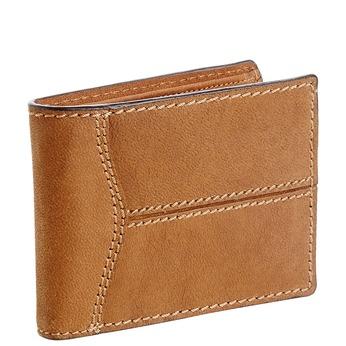 Pánska kožená peňaženka s prešívaním bata, hnedá, 944-3146 - 13