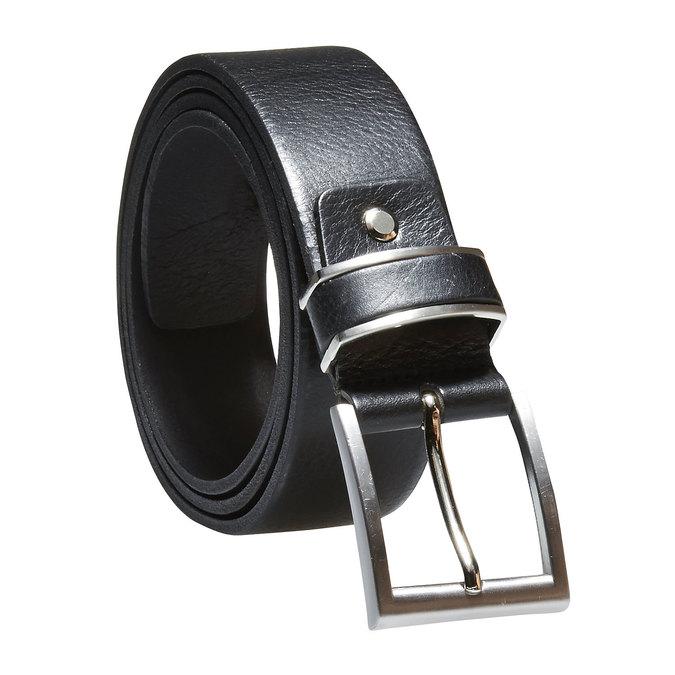 Pánsky kožený opasok bata, čierna, 954-6130 - 13