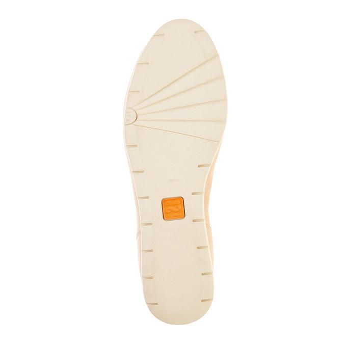 Dámske kožené poltopánky flexible, béžová, 524-8565 - 26