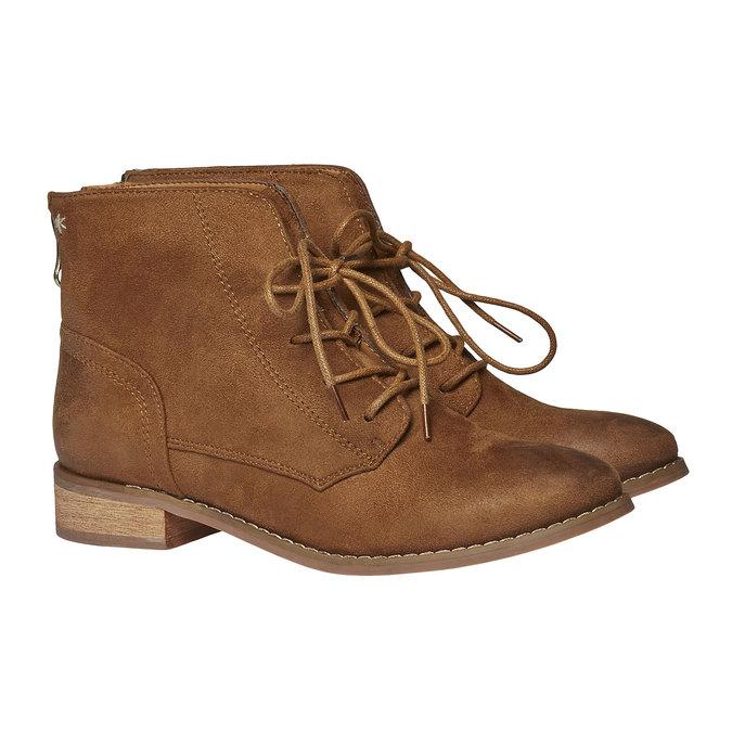Členkové šnurovacie topánky bata, hnedá, 599-3493 - 26