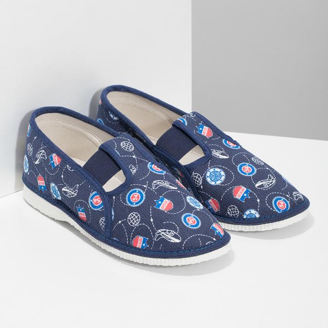 Detské papuče bata, modrá, 379-9012 - 26