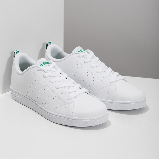 Biele tenisky so zelenými detailami adidas, biela, 501-1300 - 26
